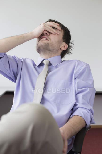 Homem de negócios de stress — Fotografia de Stock
