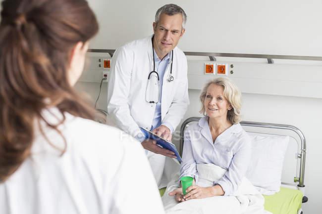 Doctors visit in hospital. — Stock Photo