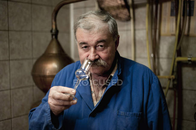 Portrait of distiller, Slovenia — Stock Photo