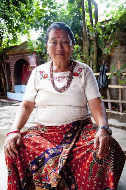 Schamanin traditionelle Kleidung — Stockfoto