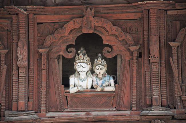 Індуїстський храм різьбленням — стокове фото