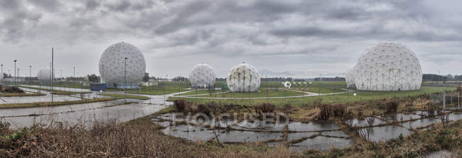 Radar Domes at Bad Aibling Station — Stockfoto