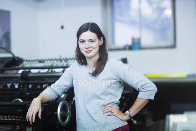 Engineer standing in industry — Stock Photo