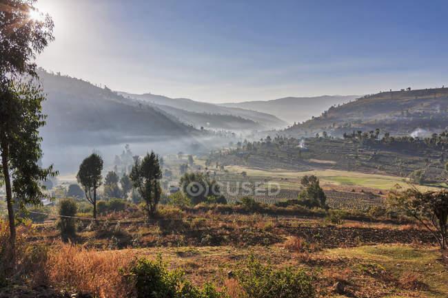 Vista del majestuoso paisaje - foto de stock