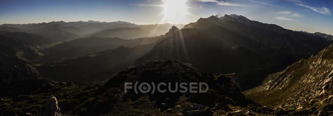 Picos De Europa at sunset — стоковое фото