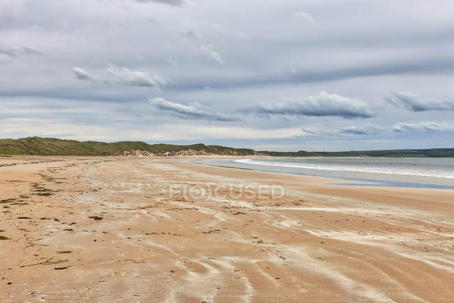 Scenic view of beach at Gullane, Scotland — Stock Photo