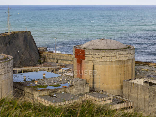 High angle view of unfinished nuclear power plant — Stock Photo