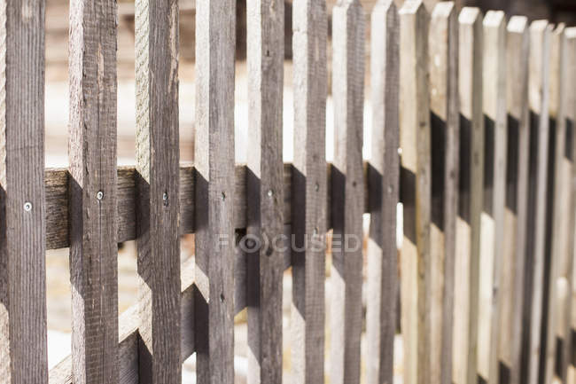 Close-up view of wooden fence — Stock Photo