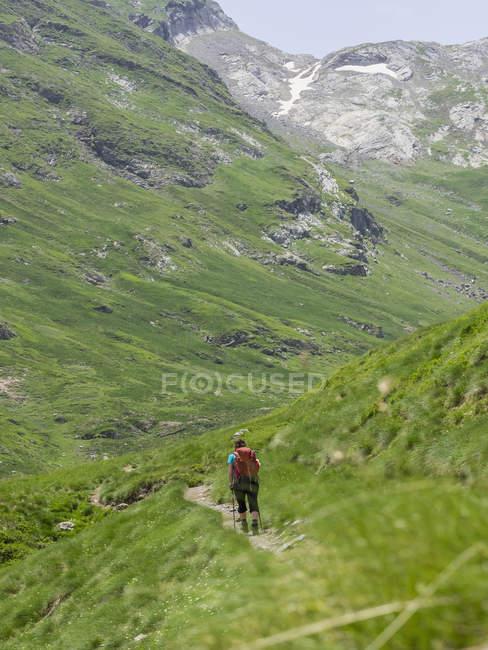 Зрілі жінки спуску у високих Піренеїв до долини Гаварні, Франція — стокове фото