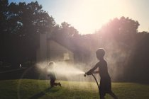 Cute happy little boys playing — Stock Photo