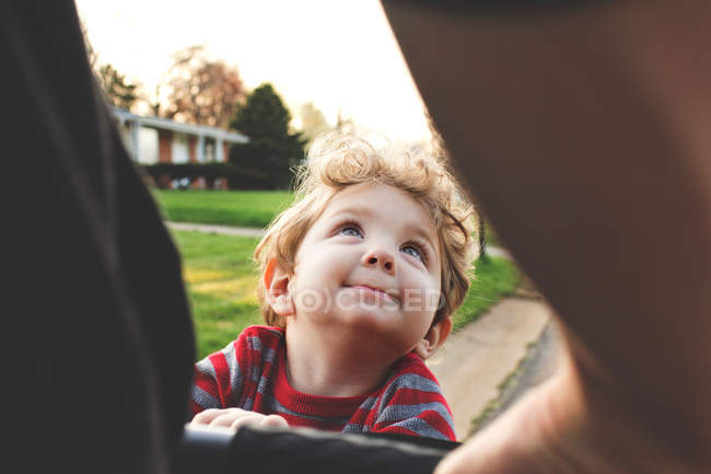 Adorable smiling little boy — Stock Photo