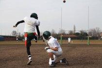 Американський футбол навчання — стокове фото