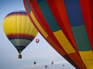 Festival de globos aerostáticos - foto de stock