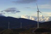 Três turbinas eólicas — Fotografia de Stock