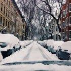 Brooklyn, barrio Nevado - foto de stock