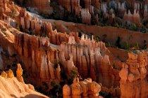 Вид скал в Брайс-Каньон — стоковое фото