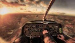 Pouso de emergência de avião — Fotografia de Stock
