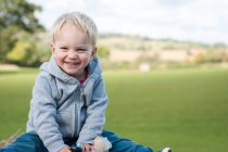 Happy boy outdoors — Stock Photo