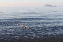 Homme flottant sur l'eau — Photo de stock