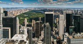 Manhattan e Central Park — Foto stock