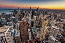 Vue des gratte-ciel du centre-ville — Photo de stock