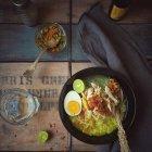 Пряний курячий суп — стокове фото