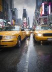 Traffic jam at times square — Stock Photo