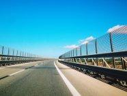 View of empty highway — Stock Photo