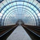 Туннель вокзала — стоковое фото