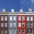 Four building facades — Stock Photo