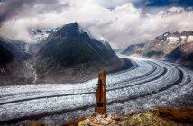 Aletsch льодовик, Швейцарія — стокове фото