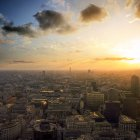 Londons Skyline bei Sonnenuntergang — Stockfoto
