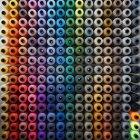 Patrón de hileras de hilo de coser - foto de stock