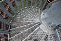 Pattern of metal spiral staircase — Stock Photo