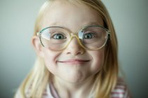 Girl making silly face — Stock Photo