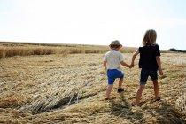 Zwei jungen Hand in Hand Spaziergang — Stockfoto