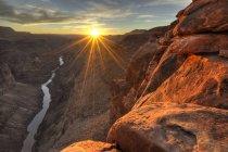 Vista panorâmica de Toroweap ao pôr do sol, EUA, Arizona, Grand Canyon National Park — Fotografia de Stock