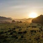 Malerische Aussicht auf schöne Landschaft bei Morgensonne — Stockfoto