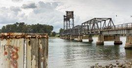 Cênica Ver os da velha ponte, Batemans Bay, New South Wales, Austrália — Fotografia de Stock