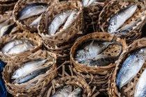 Pesce in cestini al mercato, Vietnam, Ho Chi Minh City — Foto stock