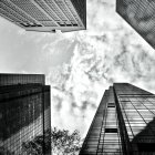 Looking up at Skyscrapers of Madison and Fifth Avenues, New York City, New York State, USA — Stock Photo