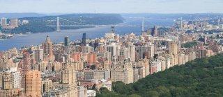 Aerial view of Manhattan, New York City, America, USA — Stock Photo