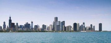 Мальовничий вид на горизонт, штат Іллінойс, Чикаго Америці, США — стокове фото