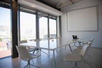 Interior contemporary empty conference room — Stock Photo
