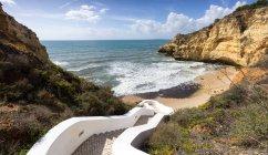 Passos para a praia, Carvoerio, Faro, Portugal — Fotografia de Stock