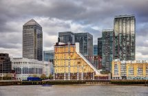 Scenic view of Canary Wharf, London, UK — Stock Photo