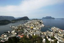 Aerial view of city  Alesund, Norway — Stock Photo
