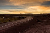 Roads in the altiplano near border with Bolivia and Chile — Stock Photo