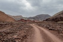 Scenic view of road to rainbow valley near San Pedro de Atacama, Chile — Stock Photo