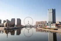 Vista panorámica a ojo de Tianjin, Tianjin, China - foto de stock